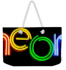 Weekender Tote Bag featuring the photograph Neon by Kelly Awad