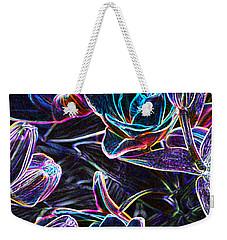 Neon Lilies Weekender Tote Bag by Tine Nordbred