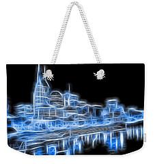 Neon Nashville Skyline Weekender Tote Bag by Dan Sproul