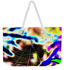Neon Spider Weekender Tote Bag by Kim Pate