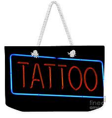 Neon Tattoo Sign Weekender Tote Bag
