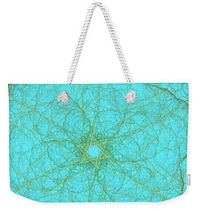 Nerves Green Blue Weekender Tote Bag