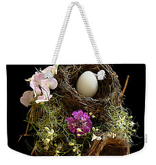 Weekender Tote Bag featuring the photograph Nest Egg by Barbara St Jean