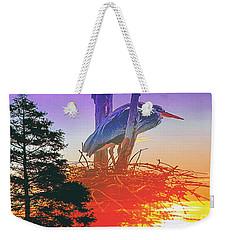 Nesting Heron - Summer Time Weekender Tote Bag
