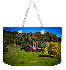 nestled in the hills of West Virginia Weekender Tote Bag by Shane Holsclaw