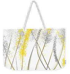 Neutral Sunshine - Yellow And Gray Modern Art Weekender Tote Bag by Lourry Legarde