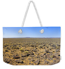 Weekender Tote Bag featuring the photograph Nevada Desert Panorama by Mark Greenberg