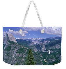 Nevada Fall And Half Dome, Yosemite Weekender Tote Bag by Panoramic Images