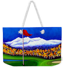 Weekender Tote Bag featuring the painting Never Enough by Jackie Carpenter