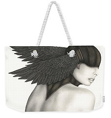Weekender Tote Bag featuring the painting Nevermore by Pat Erickson