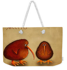 New Arrival. Kiwi Bird - Sweet As - Boy Weekender Tote Bag by Marlene Watson