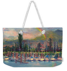 New Covenant - Rainbow Over Marina Weekender Tote Bag