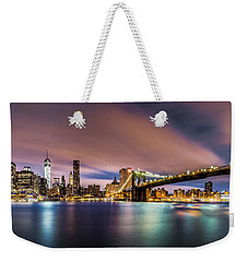 New Dawn Over New York Weekender Tote Bag