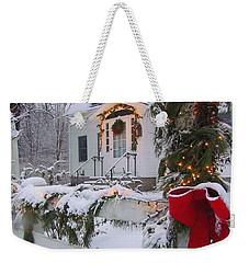 New England Christmas Weekender Tote Bag