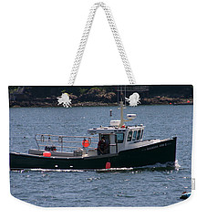 Weekender Tote Bag featuring the photograph New England Fishing Boat by Denyse Duhaime
