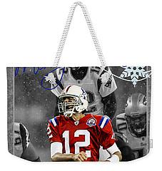 New England Patriots Christmas Card Weekender Tote Bag