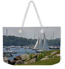 New England Seascape Weekender Tote Bag by Denyse Duhaime