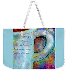 New Every Morning Weekender Tote Bag