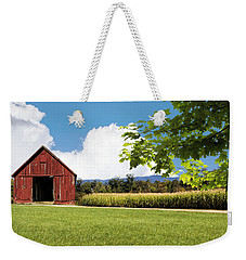 New Hampshire Barnyard Weekender Tote Bag by Fred Larson
