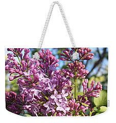 Purple Lilac Weekender Tote Bag