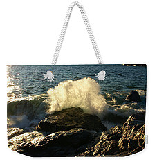 Weekender Tote Bag featuring the photograph New Heights by James Peterson