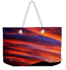 Weekender Tote Bag featuring the photograph New Mexican Sunrise by Susanne Still