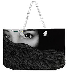 Weekender Tote Bag featuring the painting New Moon by Pat Erickson