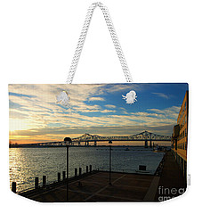 Weekender Tote Bag featuring the photograph New Orleans Bridge by Erika Weber