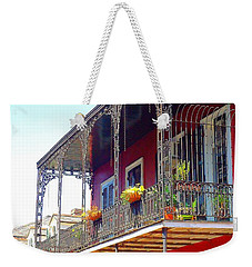 New Orleans French Quarter Architecture 2 Weekender Tote Bag by Saundra Myles