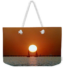 New Orleans Sailing Sun On Lake Pontchartrain Weekender Tote Bag