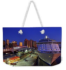 New Orleans Skyline With The Voyager Of The Seas Weekender Tote Bag