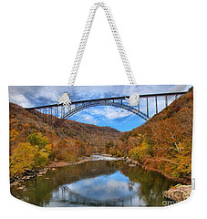 New River Gorge Reflections Weekender Tote Bag