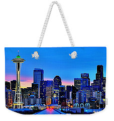 New Seattle Day Weekender Tote Bag by Benjamin Yeager