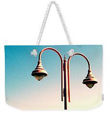 Beach Lamp Post Weekender Tote Bag by Valerie Reeves