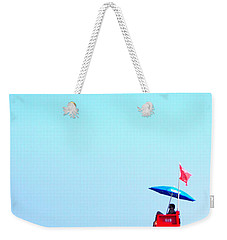 New Smyrna Lifeguard Weekender Tote Bag by Valerie Reeves