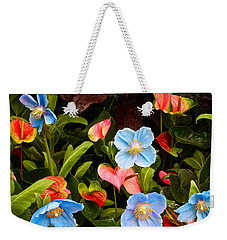 New World And Old World Exotic Flowers Weekender Tote Bag