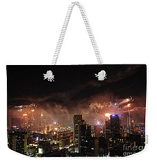 New Year Fireworks Weekender Tote Bag