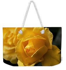 New Yellow Rose Weekender Tote Bag by Rona Black