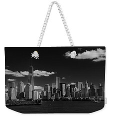 New York 1 Black And White Weekender Tote Bag