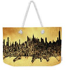 New York Skyline 78 - Mid Manhattan Ink Watercolor Painting Weekender Tote Bag