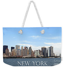 Weekender Tote Bag featuring the photograph New York As I Saw It In 2008 by Ausra Huntington nee Paulauskaite