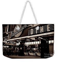 New York At Night - Brooklyn Diner - Sepia Weekender Tote Bag