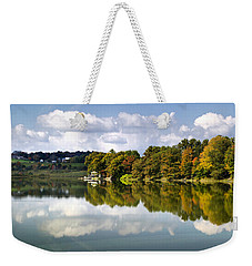 Weekender Tote Bag featuring the photograph New York Cincinnatus Lake by Christina Rollo