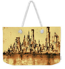 New York City Skyline 79 - Water Color Panorama Weekender Tote Bag