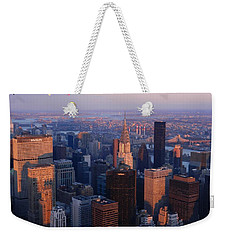 New York City At Dusk Weekender Tote Bag