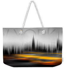 New York City Cabs Abstract Weekender Tote Bag by Az Jackson