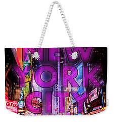 New York City - Color Weekender Tote Bag