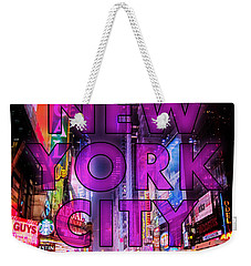 New York City - Color Weekender Tote Bag