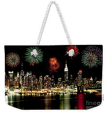 New York City Fourth Of July Weekender Tote Bag