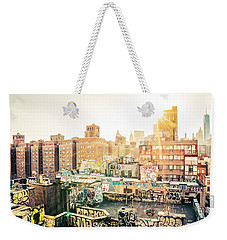New York City - Graffiti Rooftops Of Chinatown At Sunset Weekender Tote Bag